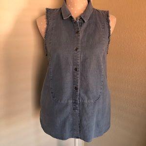 Free People sleeveless linen shirt